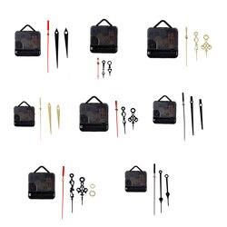 Hot 1 Set Silent Wall Clock Quartz Movement Mechanism Black Red DIY Wall Clock Quartz Clock Hour/Minute Hand Clock Movement