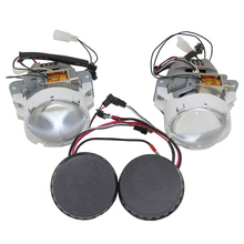 цена на SHUOKE Quality Ensure Bi-LED Projector Lens High/Low Beam 2.8 Inch Lens 16V 40W 6000K White 1 set Free Shipping With 2 Ballast