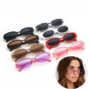 Retro Sunglasses Oval Fashion Shades Summer Women Eyewear Frame Polarized UV400 for Small