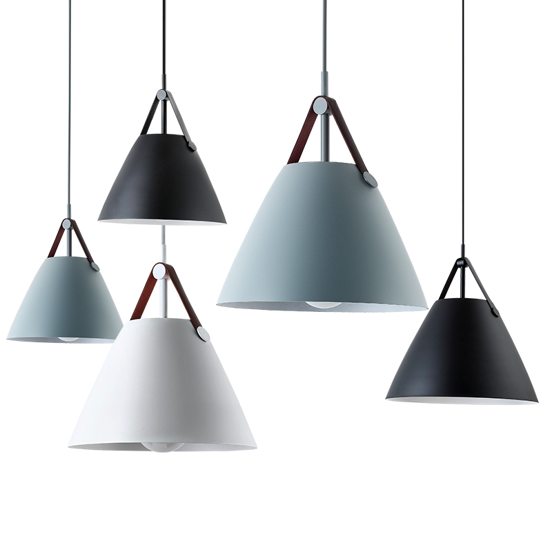 Nordic Modern iron pendants Lights Restaurant pendant lighting kitchen pendant lamp LED hanging light for bedroom living room