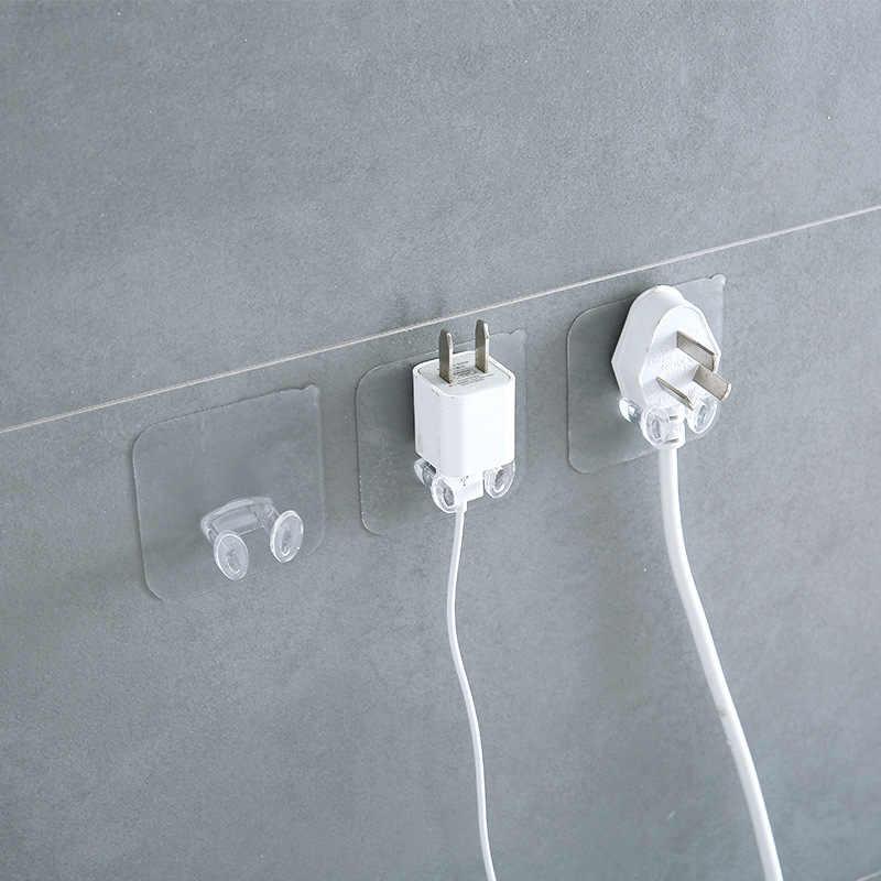 Hoting satış yapışkan kanca priz askı duvar depolama kanca şeffaf duvar askısı vantuzlu askı dayanıklı banyo Gadgets