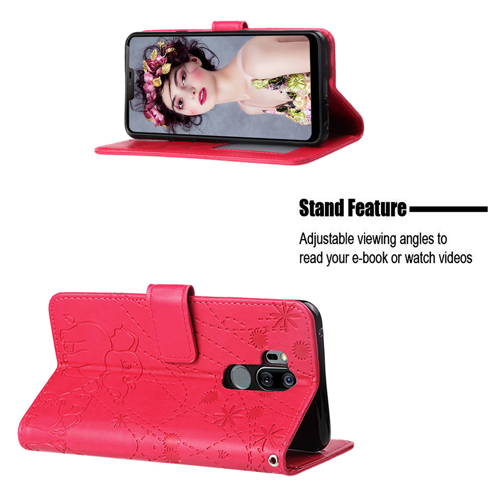 Coque K8 2018 Stylo4 V40ThinQ G7ThinQ Couples Simple Fashion Leather Flip Wallet Case For LG X Poner3 G7 V40 ThinQ Card Cover in Flip Cases from Cellphones Telecommunications