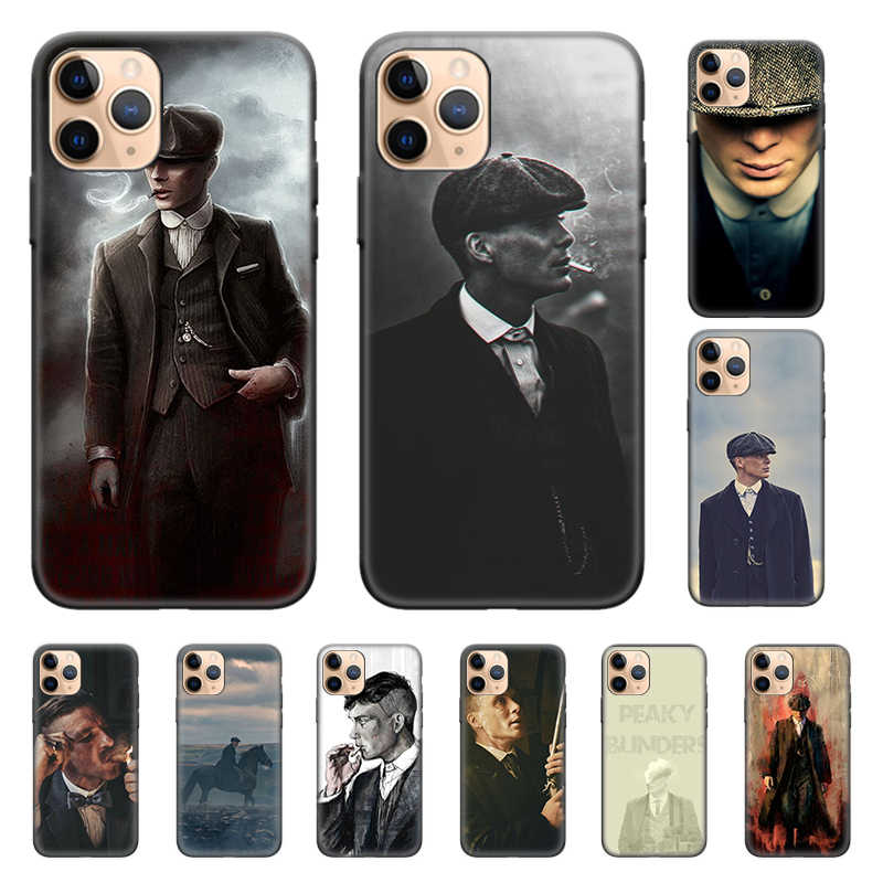 Capa de silicone para o iphone x xs xr xs 11 11pro max 7 8 6 s 5 5S se plus 7 + 8 telefone volta casca peaky blinders linda