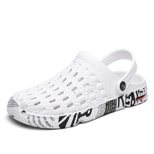 Men's hole shoes men's summer casual beach sandals and