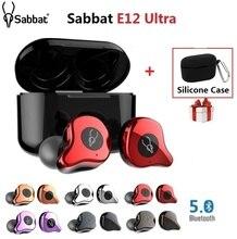 Sabbat fone de ouvido tws e12 ultra qcc3020, fones auriculares, intra auricular, sem fio, bluetooth v5.0, hifi estéreo