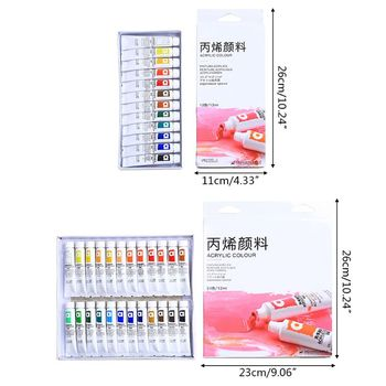 цена на 12/24 Color Acrylic Paints Brush 12ml Artist Drawing Painting Pigment Wall Paint G8TA