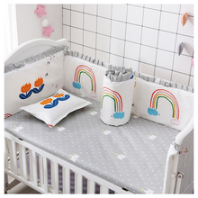 Newborn Baby Crib Bumper Pads Cot Cotton Crib Bumper Unisex  Breathable Baby Bumpers Padded for Baby Crib Baby Bedding Sets 6PCS promotion 6pcs baby set crib baby bedding sets for cot 100