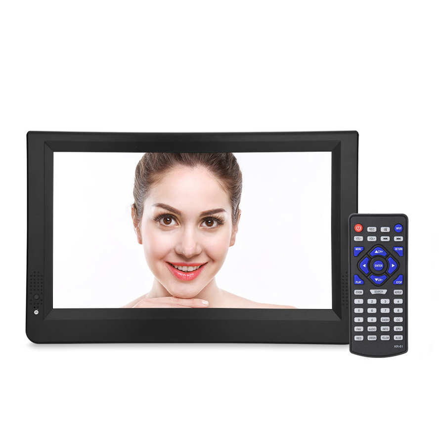 LEADSTAR 12 inch HD Portable TV ISDB-T USB Digital Television Mini Car TV Audio Video Player Support MP4 Monitor EU Plug 10 -