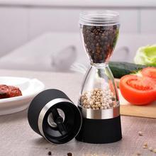 Spice Grinder Dual-Salt Pepper-Mills Sealed-Sesame-Pepper-Shaker Cooking-Tools Hourglass-Shape