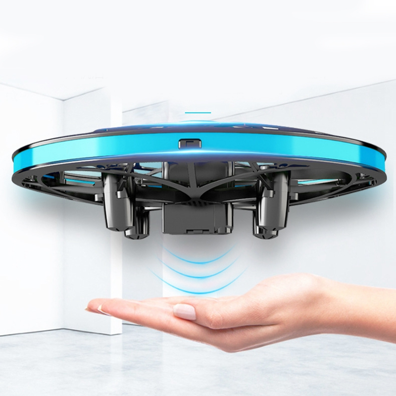 lowest price Anti-Collision Mini UFO RC Hand Drone Infrared Flying Helicopter Rotate Sensing Induction Drone Electronic Kids Toys