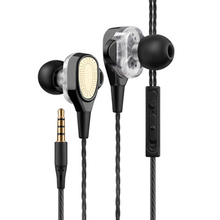 цена на Earphone Stereo Bass Music Headset 3.5MM In-Ear Wired Control Sport Earbuds Noise Cancelling Earphones With MIC Ew*