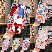 Human organ goldfish lucky cat TPU Soft Phone Case Cover for iPhone 8 7 6 6S Plus X XS MAX 5 5S SE XR 11 pro max black cover lovely cat for iphone x xr xs max for iphone 8 7 6 6s plus 5s 5 se super bright glossy phone case