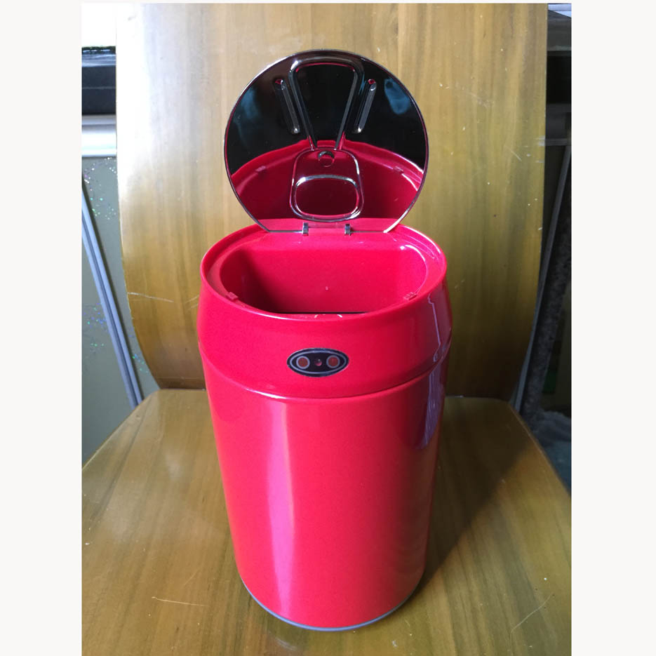 2L Mini Auto Open Close Waste Bin Sensor Garbage Can No Touch Trash Can Stainless Steel