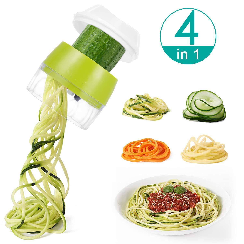 Mandoline Handheld Spiralizer Vegetable Fruit Slicer 4 in 1 shredder Spiral Grater Cutter Salad Tools Noodle Spaghetti Maker