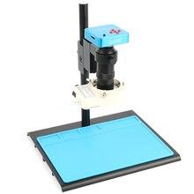 Cámara de vídeo Industrial para reparación de soldadura, 38MP, 2K, USB, HDMI, conjunto de microscopio, lente 100X de montaje en C para reparación de soldadura PCB de teléfono