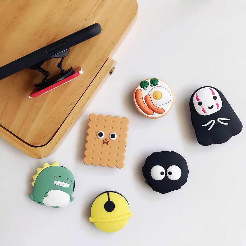 Wholes PPOSocket Mobile Phone Soket Stretch Bracket Cartoon Airbag Phone Expanding Phone Stand Finger Car Phone Holder Pipsocket