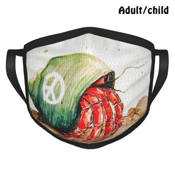Hermit Pm2.5 Anti Dust Diy Reusable Face Mask Hermit Crab Ocean Sea Crab Peace Peaceful Daydream image