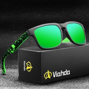 Image 1 - Viahda óculos de sol masculino polarizado, óculos de sol para viagem, com caixa
