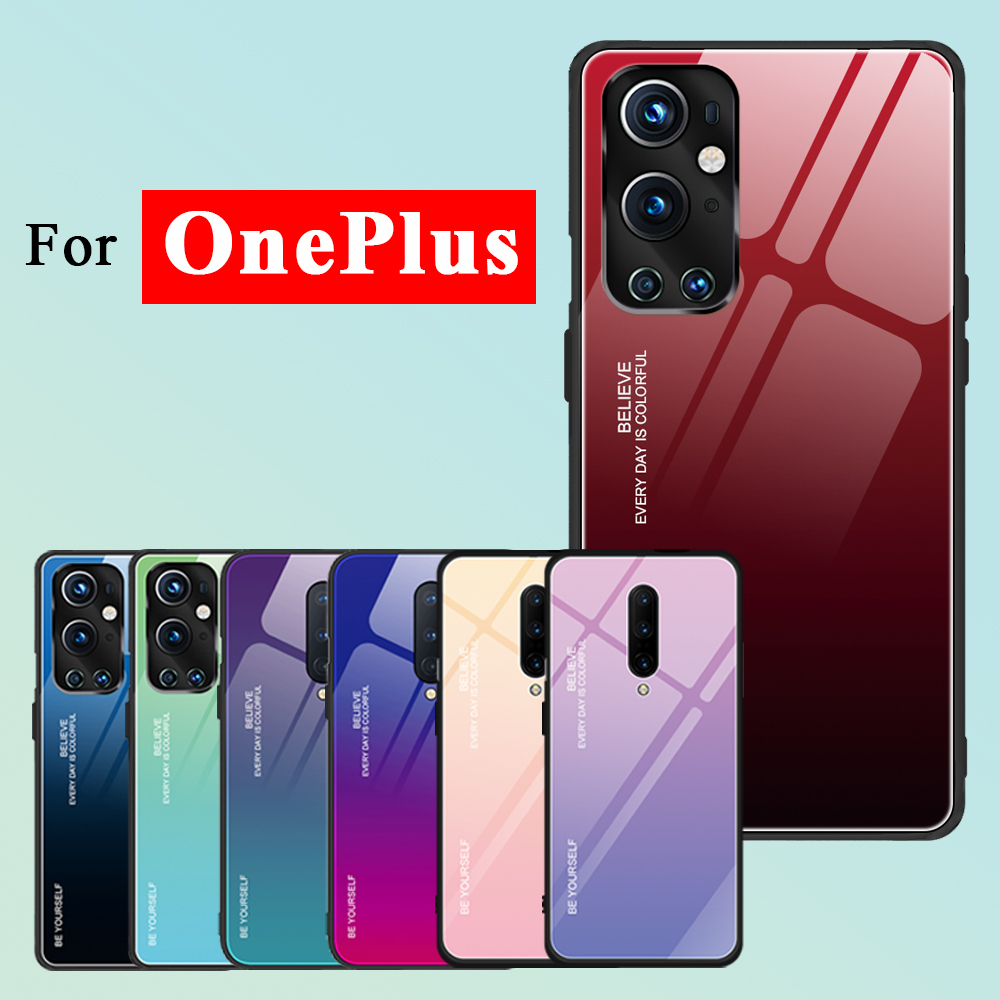 For oneplus 9 Case 5g 7 8 pro Phone Cases 1plus one plus Cover 7pro 8pro 9pro Bumper TPU Covers Tempered Glass Funda Skin Luxury