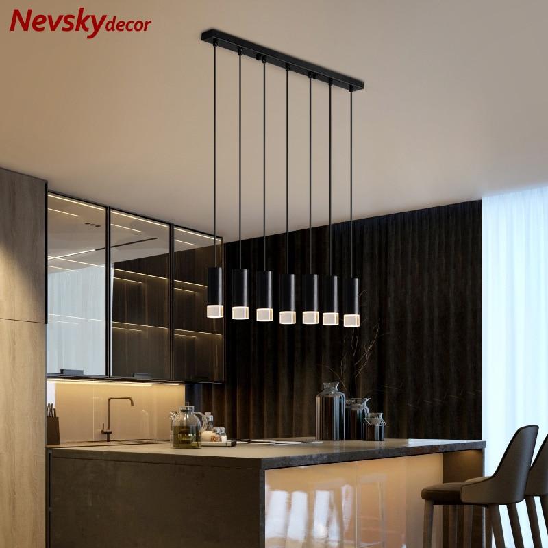 Minimalist Pendant Lamps Dining Black Shade Loft Pendant Lamp Kitchen Fixture Led Pendant Lights Kitchen Island Hanging Lighting