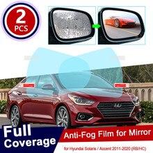 Для Hyundai Solaris Accent Verna 2011 ~ 2020 RB HC, полное покрытие, противотуманная пленка, зеркало заднего вида, автомобильные аксессуары 2012 2015 2017 2019