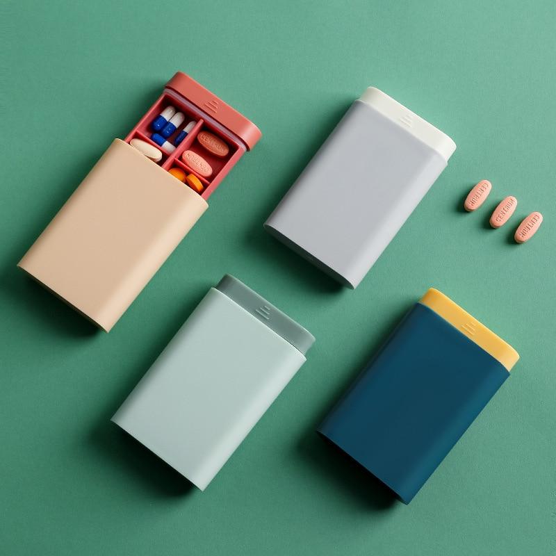 1PCS Fashion Portable Nordic Style Pill Box Tablet Pillbox Dispenser Medicine Boxes Dispensing Medical Kit Organizer