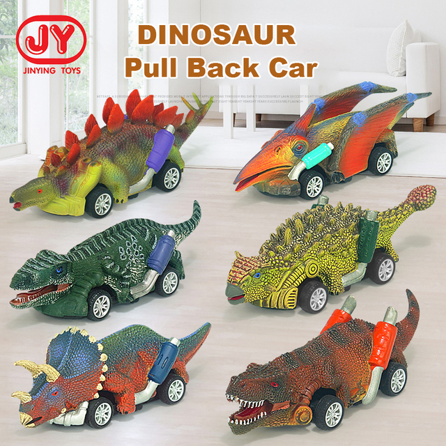 Dinosaur Cars Model Pull Back Vehicles Boys Toys 1
