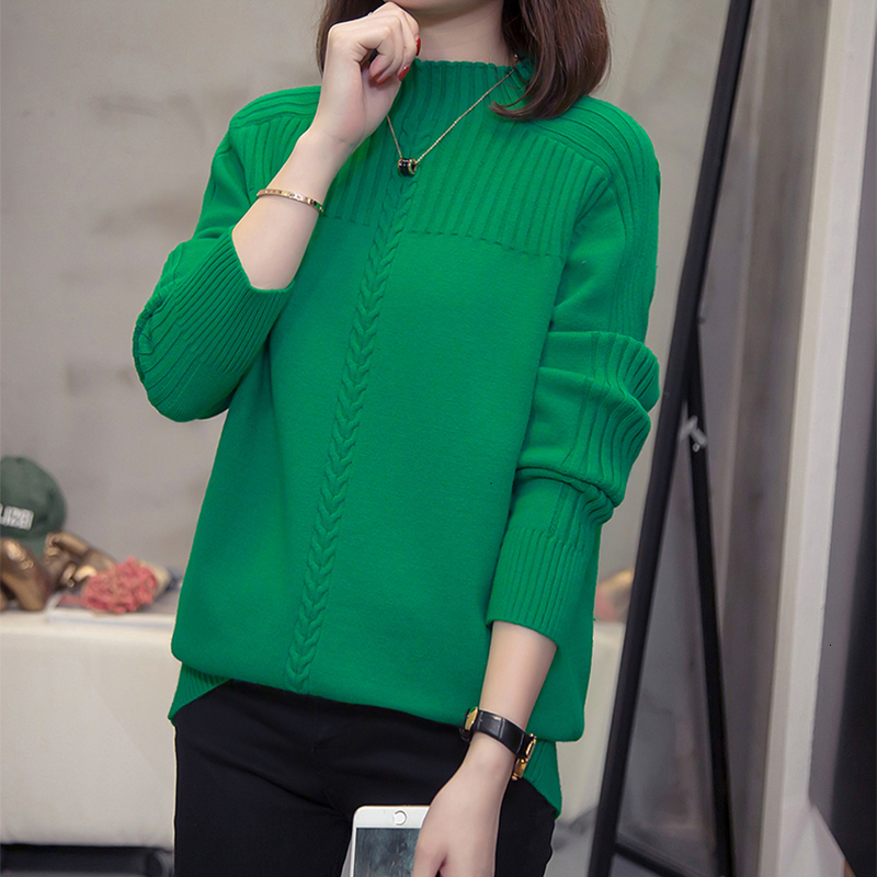 Plus Size Turtleneck Pullover Women Sweaters Autumn Winter Fashion Loose Solid Knitting Tops Oversize Ladies Jumper Knitwear