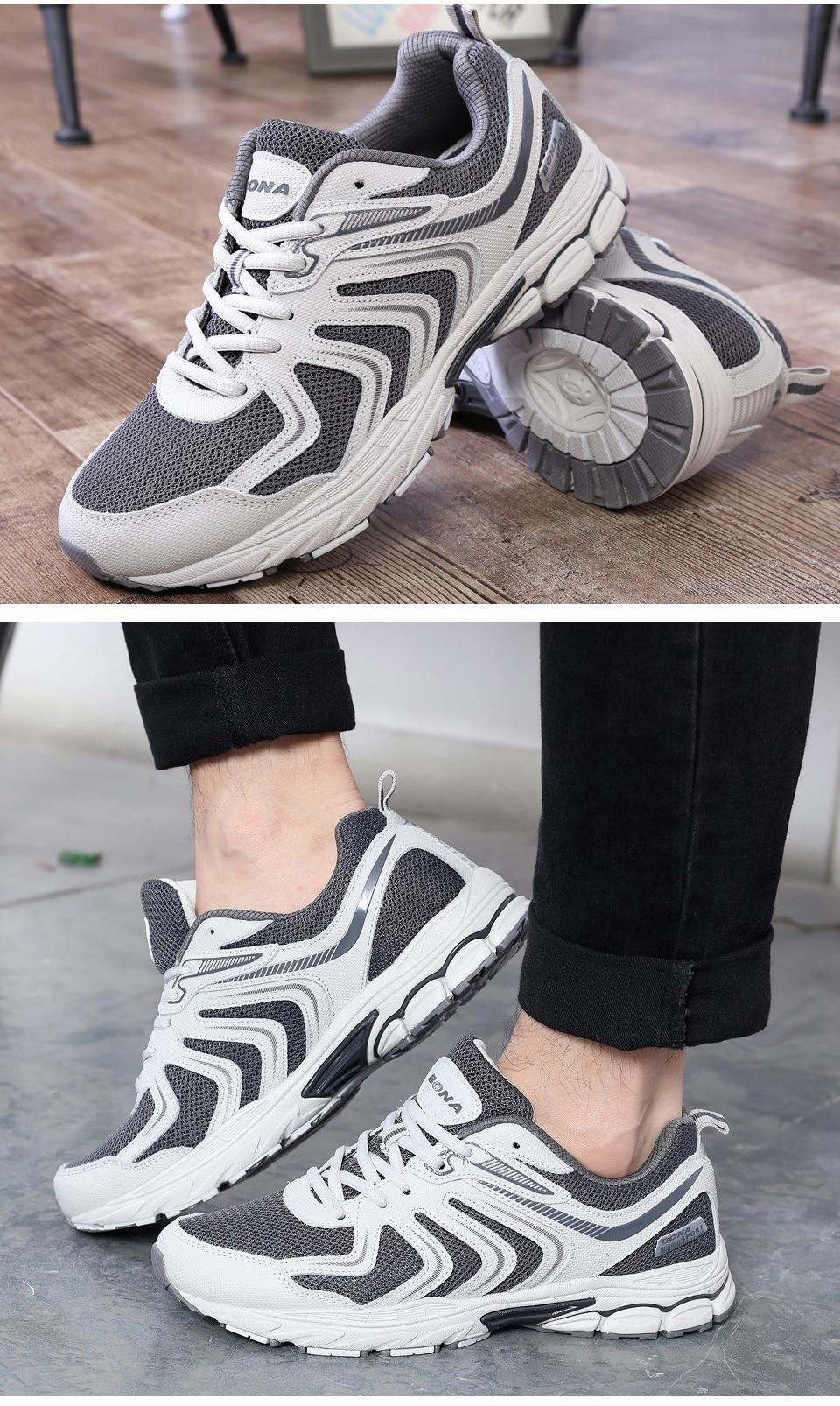 H6f392d701eb9442fb4eb13ad20278df3E BONA New Fashion Style Men shoes Casual Shoes Men Loafers Men Outdoor Sneakers Shoes Mesh Men Flats Free Shipping