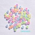 Аксессуары для ювелирных изделий «сделай сам», Матовые акриловые фитинги, флуоресцентные разноцветные буквенные разделители 7 мм, круглые ...