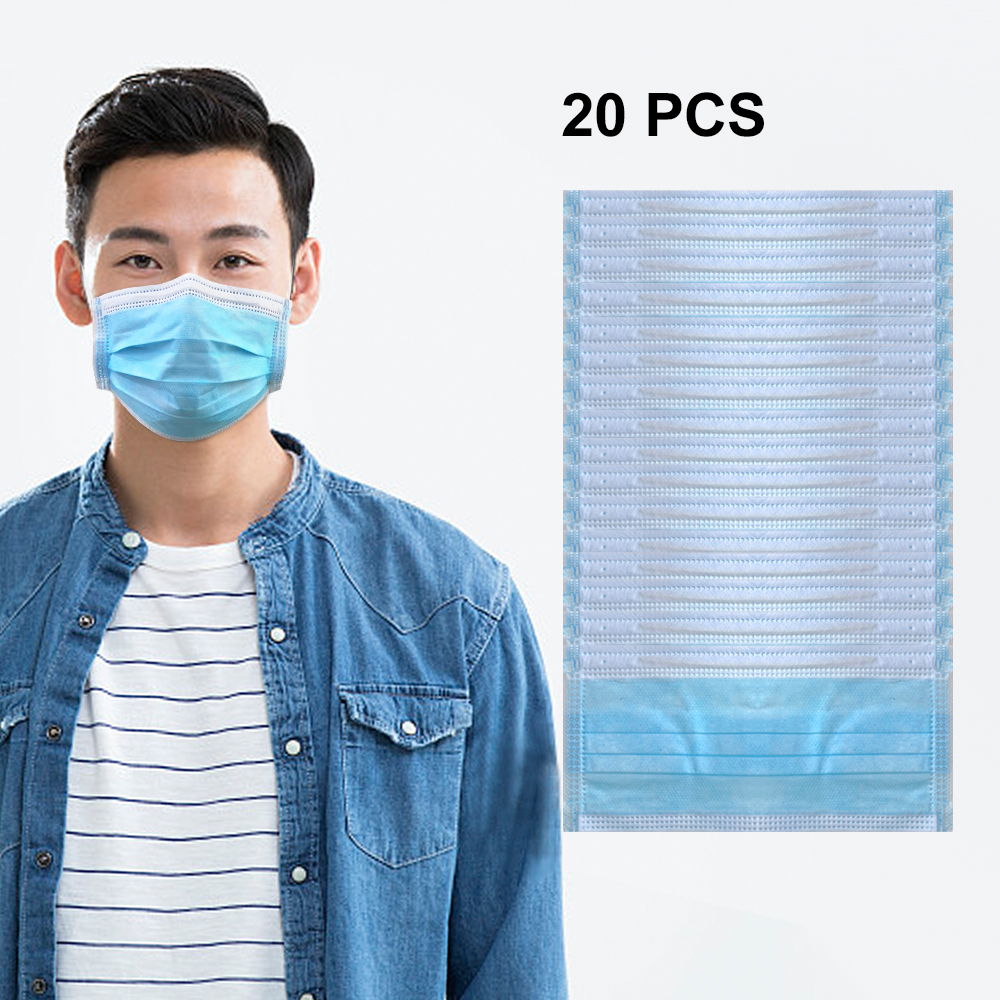 In Stock Medical Disinfection Sterilized Mask 3 Layers Antivirus Flu Anti Infection Medical Surgical Disposable Masks