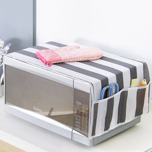 Microwave Cover Microwave Oven Hood Kitchen Accessories Double Pockets Dust Covers Waterproof Grease Proofing Storage Bag