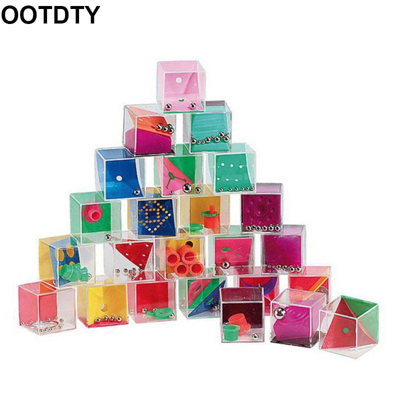 24 Pcs Gravity Balance Bead Set Intelligance Decompression Puzzle Toy Mini Labyrinth Cube Game Boredom Relieve Gadgets