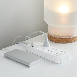 Image 2 - الأصلي شاومي ZMI 18 واط قطاع الطاقة 6 مآخذ التيار المتناوب [3 خمسة/اثنين حفرة] 2 USB الذكية الناتج قطعة واحدة النحاس ترقية السلامة