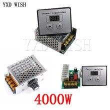 AC 220V 4000W SCR Regulator napięcia ściemniacze ściemniacze Regulator prędkości silnika termostat elektroniczny moduł regulatora napięcia Dimer