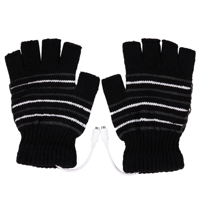 New 5V USB Powered Heating Heated Winter Hand Warmer Gloves Washable