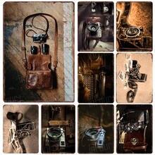 Ретро Камера металлический знак доска Металл Винтаж жестяной