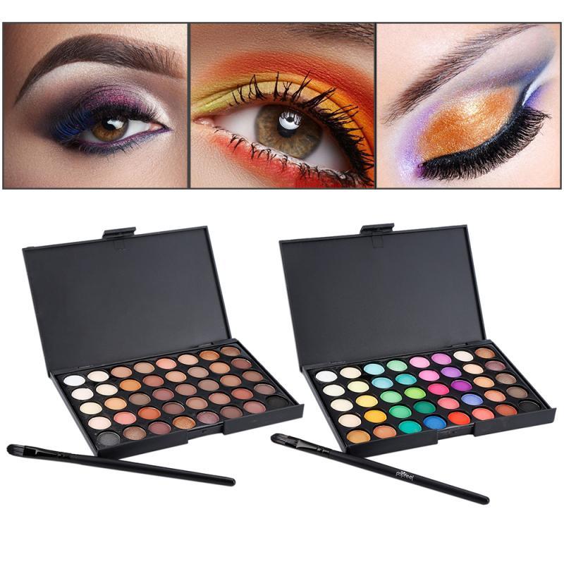NEW 40 Colors Matte Shimmer Eyeshadow Makeup Palette Earth Color Eye Shadow Pallete Pearl Long Lasting Makeup Cosmetic Set TSLM2 1