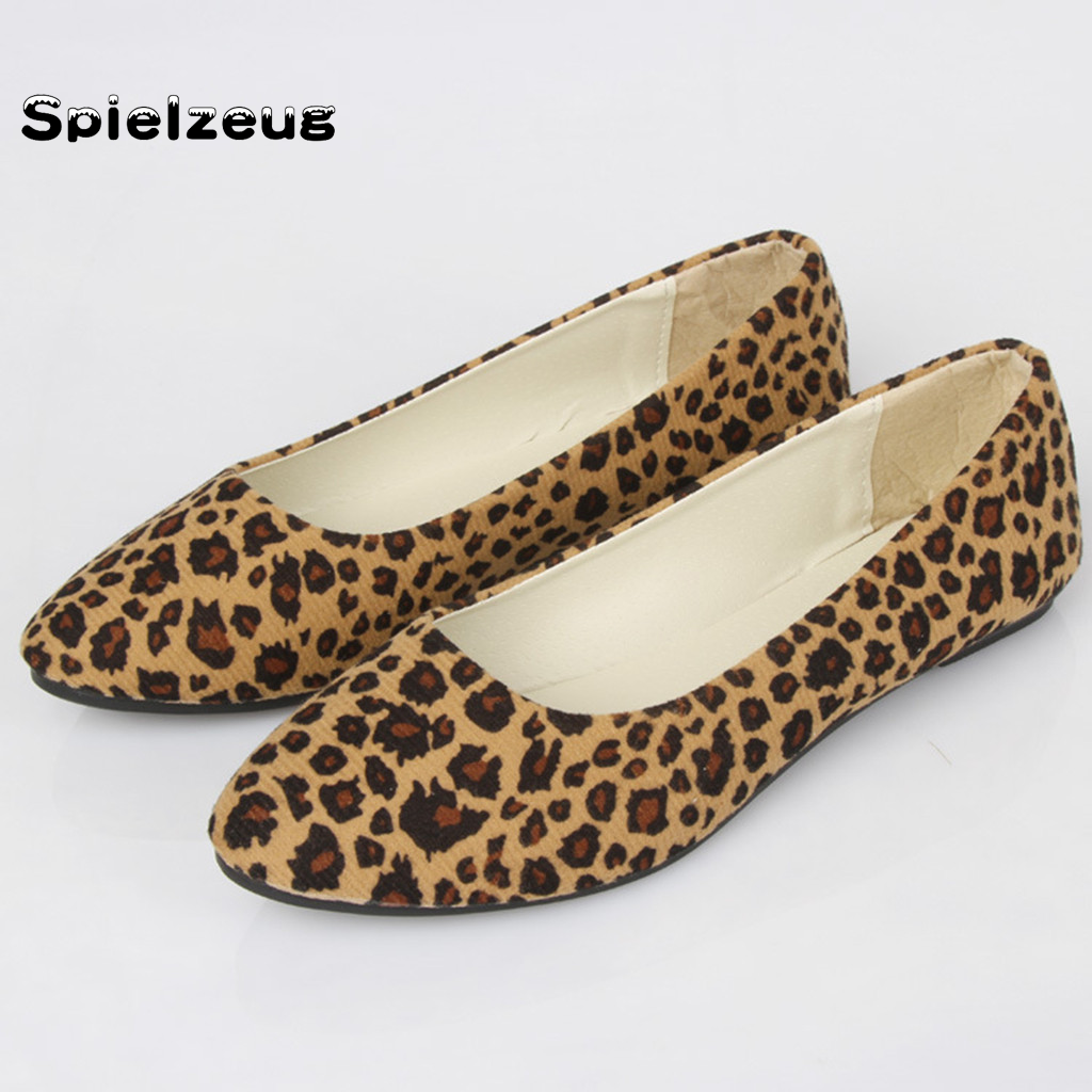 New Women/'s Ballerina Ballet Flats Leopard Slip On Boat Loafers Single Shoes