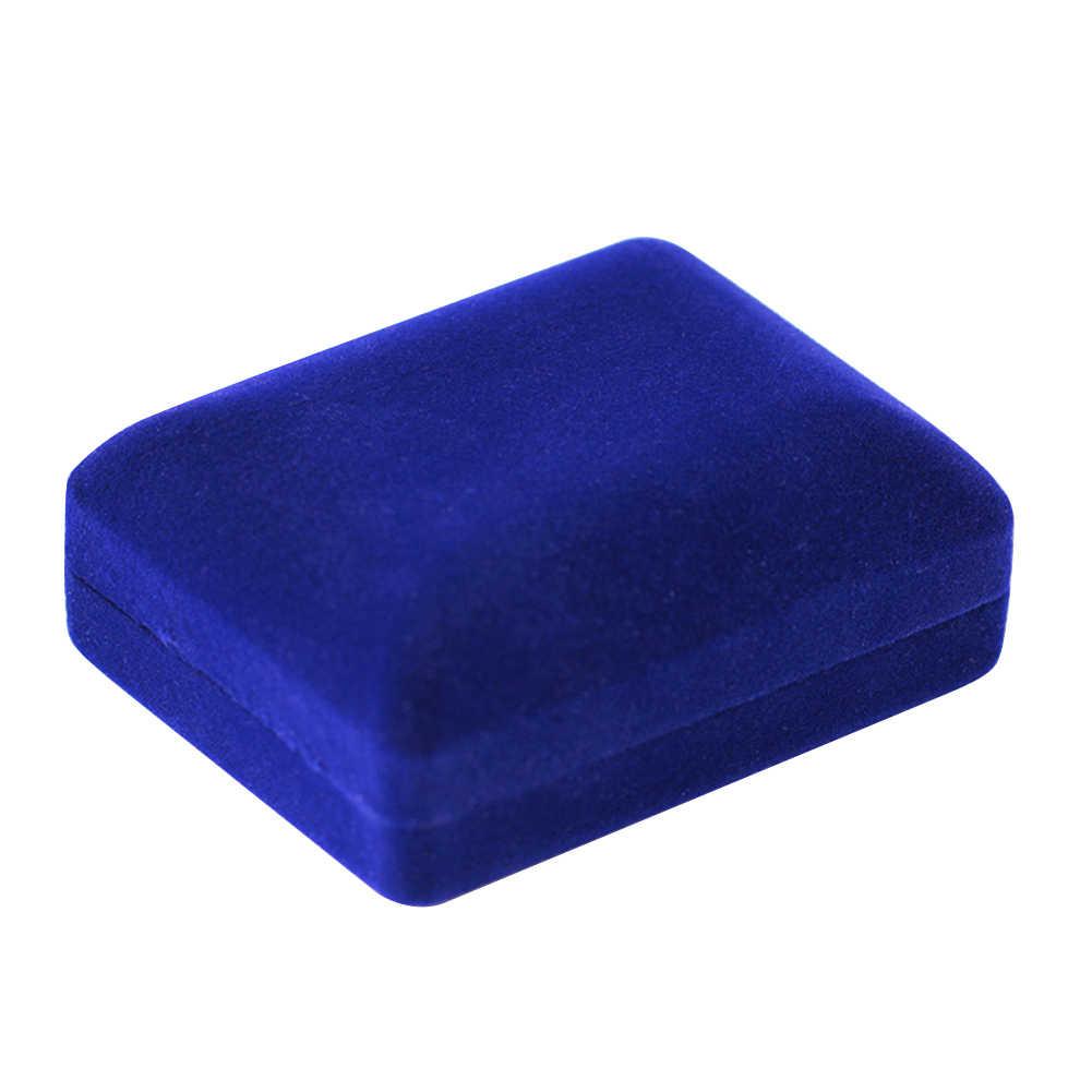 Terciopelo collar recipiente para joyas caja de muestra de regalos anillo de almacenamiento de pulseras caso de joyería de anillo, collar, pulsera caja de joyería
