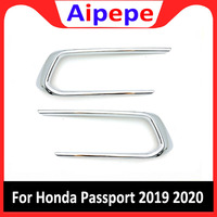 Exterior Parts Chrome ABS Front Fog Light Lamp Cover Trim Stickers Light Decoration For Honda Passport 2019 2020 Car Accessories