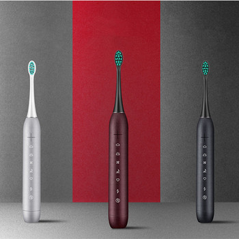 цена на frosted feel sonic electric toothbrush rechargeable adult waterproof ultrasonic electric tooth brush whitening teeth vibrator
