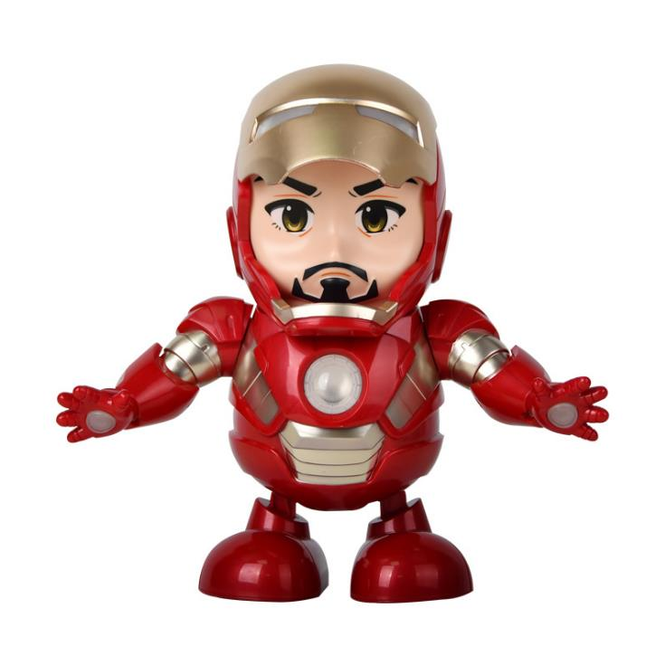 Marvel 2019 New Avengers Dancing Iron Man Robot With Music LED Flashlight Electric Captain America Toy For Kids Gift