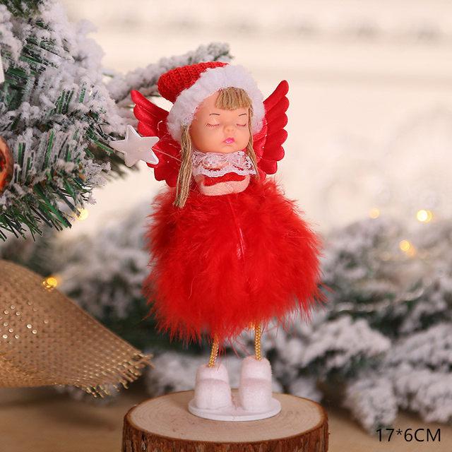 New Year 2020 Cute Santa Claus/Snowman/Angel Christmas Dolls Noel Christmas Tree Decoration for Home Xmas Navidad 2019 Kids Gift 176