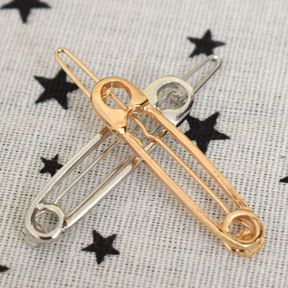 New Fashion Exquisite Wedding Jewelry Hair Clip Metal Pin Shape Hair Ornaments Decorated Clip For Women Girls Hair Accessorie