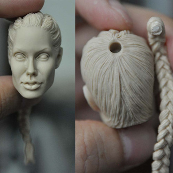 цена на In Stock 1/6 Scale Angelina Jolie Female Head Sculpt Unpainted White Version For 12'' Action Figure Doll Body