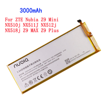 3000mAh Li3829T44P6hA74140 For ZTE Nubia Z9 Mini NX510j NX511J NX512j NX518j Z9 MAX Z9 Plus Battery baikal miner bk g28 28gh s with psu mining x11 quark qubit myriad groestl skein nist5 x11gost groestl better than x10 z9 mini a9