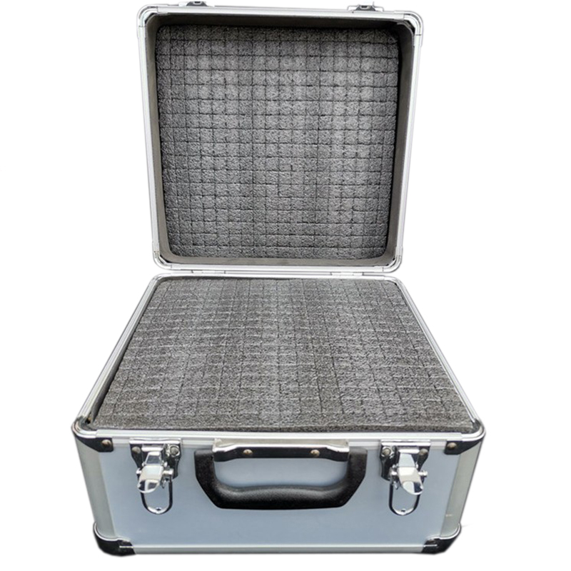 28x26x23cm Portable Aluminum Tool Box Toolbox Instrument Box Storage Case Handheld Impact Resistant Profile Case With Sponge