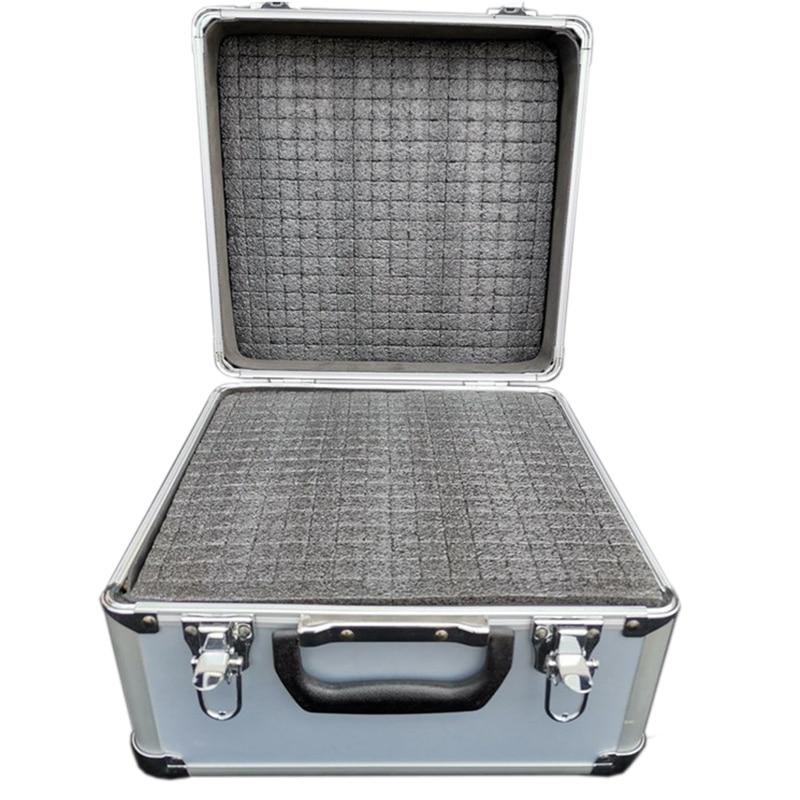 28x26x23cm boîte à outils en aluminium Portable boîte à outils boîte à outils boîte à outils mallette de rangement Portable résistant aux chocs étui avec éponge