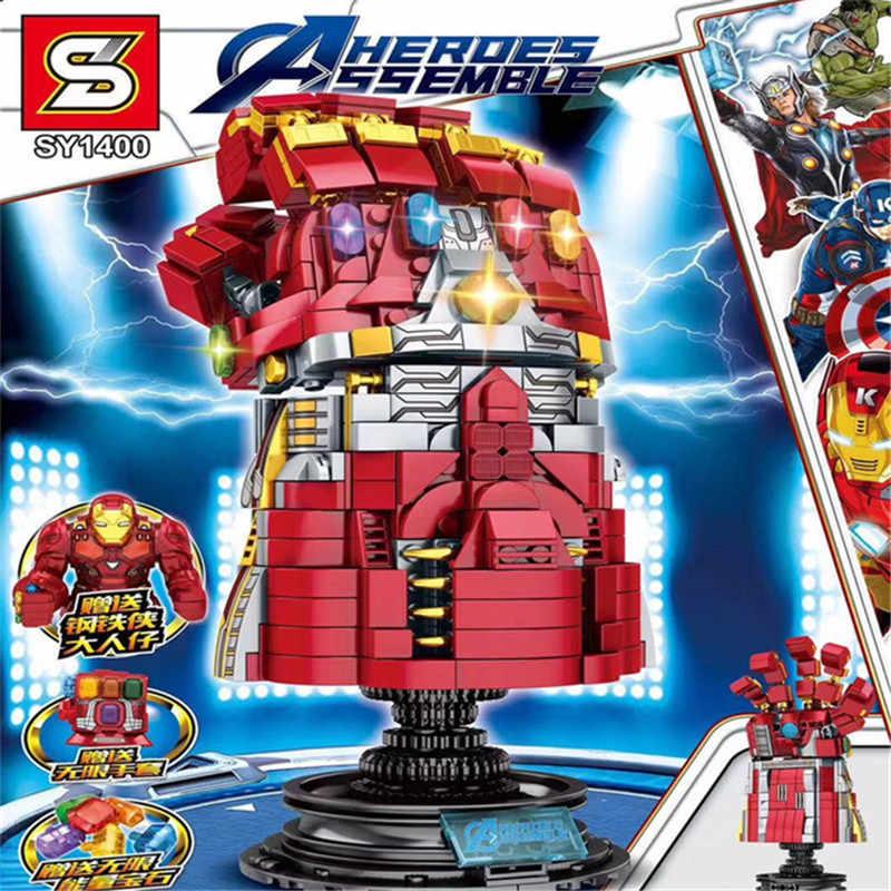 2019 Avengers 4 Il Infinite Guanti Legoinglys Modello Building Blocks Giocattoli Educativi Assemblare Mattoni con Thanos Capitano Thor